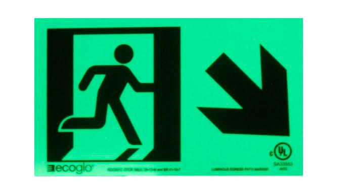 Ecoglo Directional Signage emergency signage