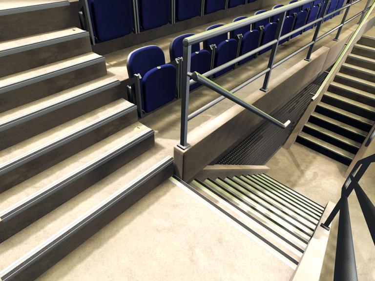 Anti-Slip Stair Tread Egress Path Markings