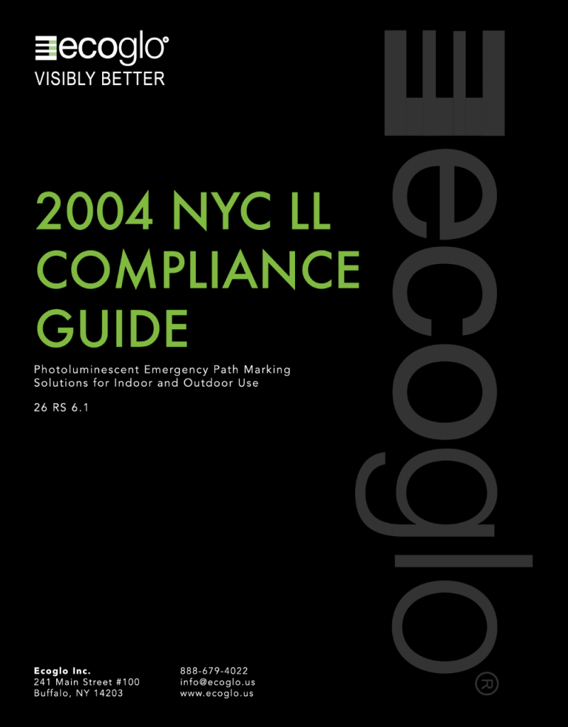 Ecoglo: 2004-NYC-LL Compliance Guide