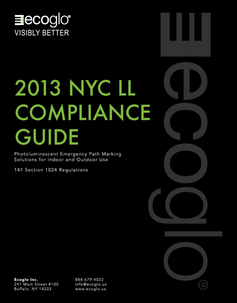 Ecoglo: 2013-NYC-LL Compliance Guide