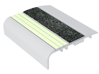 Ecoglo C5-E20 Luminescent Stair Nosing for Carpet