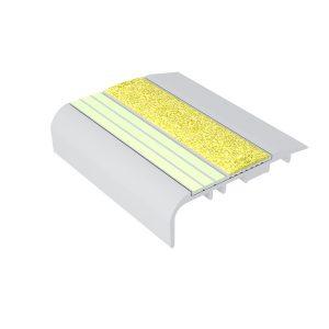 Ecoglo C5151 Luminescent Aluminum Stair Nosing for Carpet