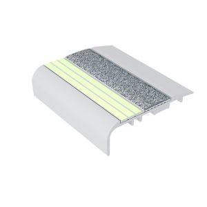Ecoglo C5161 Luminescent Aluminum Stair Nosing for Carpet