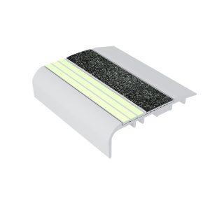 Ecoglo C5171 Luminescent Aluminum Stair Nosing for Carpet