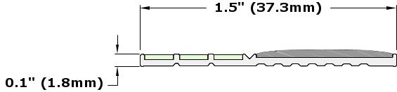 Ecoglo E20 Series Luminescent Contrast Strip Dimensions