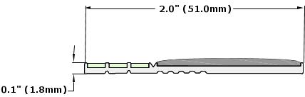 Ecoglo E30 Series Luminescent Contrast Strip Dimensions