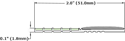 Ecoglo E4073 Luminescent Contrast Strip Dimensions