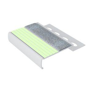 Ecoglo MA4161.125 Luminous Aluminum Stair Nosing for Tile