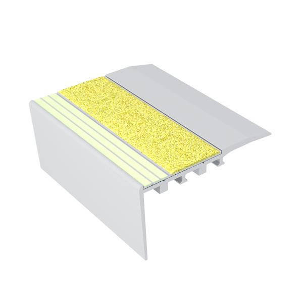 Ecoglo RC4151 Luminescent Aluminum Stair Nosing for Carpet
