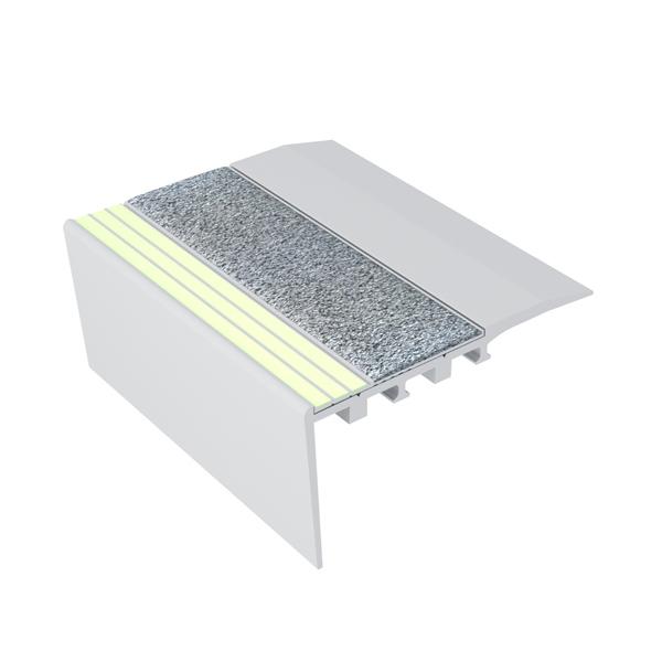 Ecoglo RC4161 Luminescent Aluminum Stair Nosing for Carpet