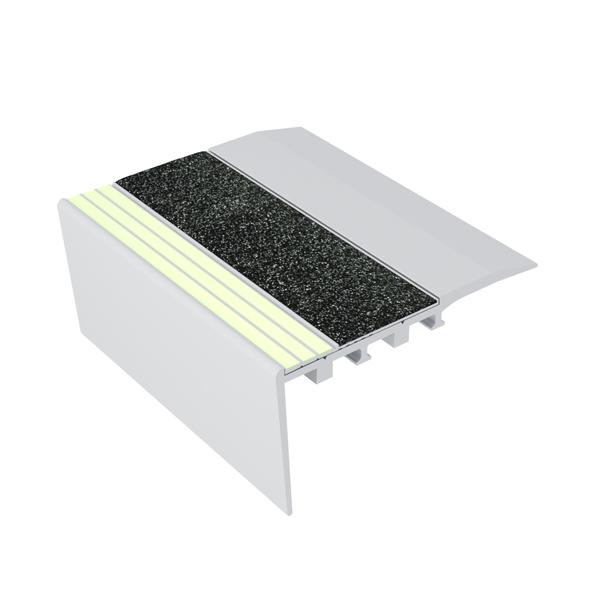 Ecoglo RC4171 Luminescent Aluminum Stair Nosing for Carpet