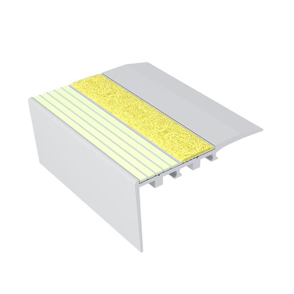 Ecoglo RCA4151 Luminescent Aluminum Stair Nosing for Carpet