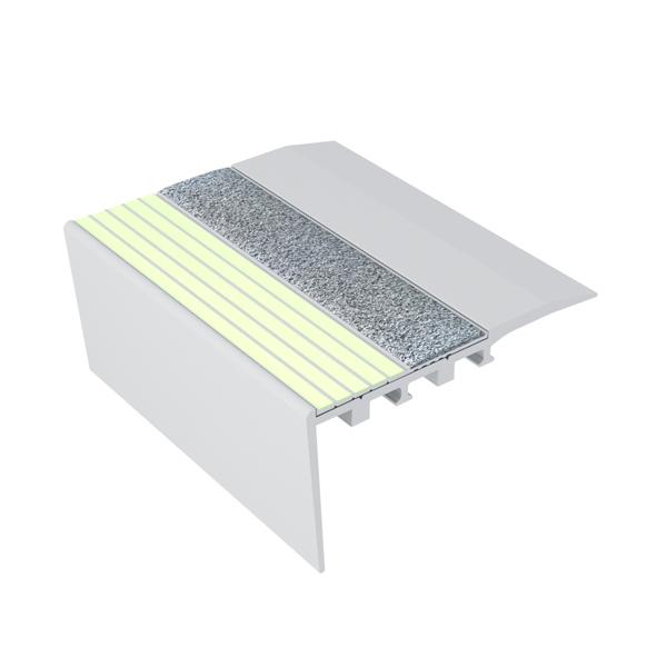 Ecoglo RCA4161 Luminescent Aluminum Stair Nosing for Carpet