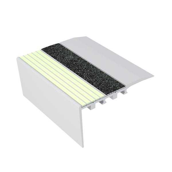 Ecoglo RCA4171 Luminescent Aluminum Stair Nosing for Carpet