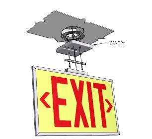 Ecoglo EX-Standard Exit Sign Retrofit Canopy Adapter