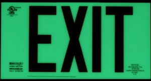 Ecoglo glow in the dark EX-Standard Emergency Exit Sign