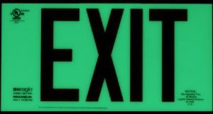 Ecoglo glow in the dark EX-Standard Emergency Exit Sign