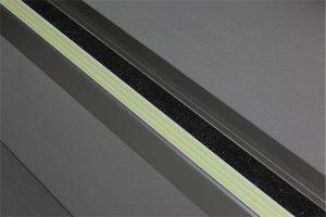 Ecoglo F4171 luminous Aluminum Flat Stair Nosing