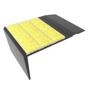 Ecoglo F4250 Slip Resistant Aluminum Black Stair Nosing