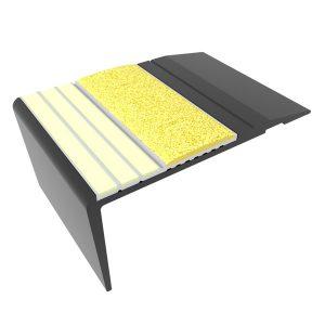 Ecoglo F4251 luminescent Black Aluminum Flat Stair Cover