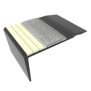 Ecoglo F4261 luminescent Black Aluminum Flat Stair Tread