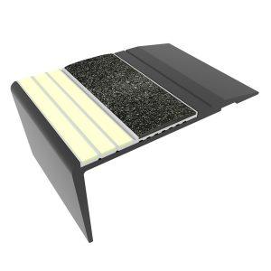 Ecoglo F4271 luminescent Black Aluminum Flat Stair Nosing