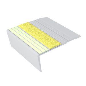 Ecoglo F6151 luminescent Aluminum Flat Stair Nosing