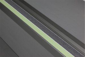 Ecoglo F6161 luminous Aluminum Flat Stair Tread