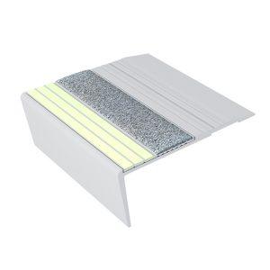 Ecoglo F6161 luminescent Aluminum Flat Stair Nosing