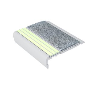 Ecoglo F7161 luminescent Aluminum Flat Stair Tread