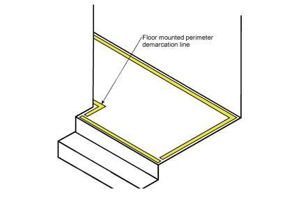 Ecoglo Floor Mounted luminous Perimeter Marking Lines