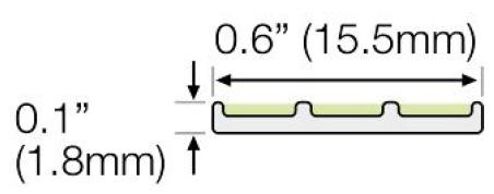 Ecoglo G3001 Luminescent Guidance Strip Dimensions