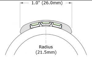 End-cap for Ecoglo H3001 Luminous Handrail Marking