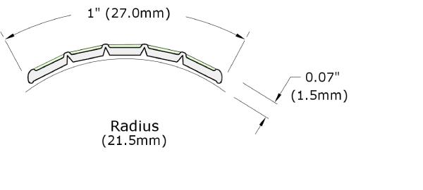 Ecoglo H5001 Luminous Handrail Marking Dimensions
