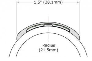 End-cap for Ecoglo H5001 Luminous Handrail Marking
