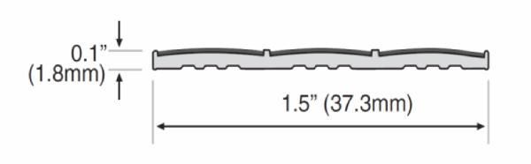 Ecoglo N20 Series Slip Resistant Stair Strip Dimensions