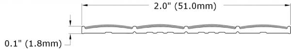 Ecoglo N30 Series Slip Resistant Stair Strip Dimensions