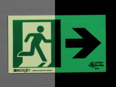 Ecoglo Luminous Directional Sign