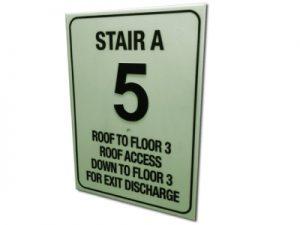 Ecoglo Photoluminescent Stairway Floor Identification Sign