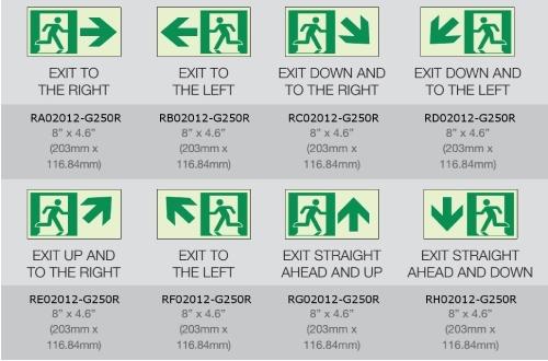 Rigid Vinyl Series Luminous Exit Path Marking Sign