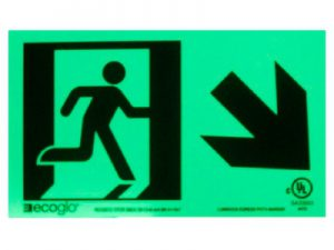 Running Man with Directional Arrow