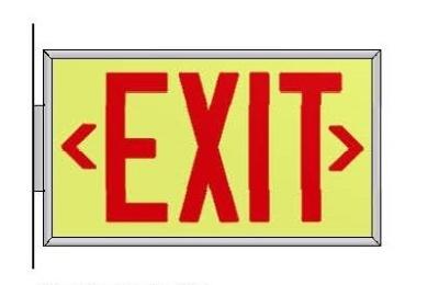 Ecoglo Side Mounted EX-Standard Exit Sign