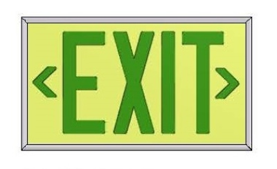Ecoglo Surface Mounted EX-Standard Exit Sign
