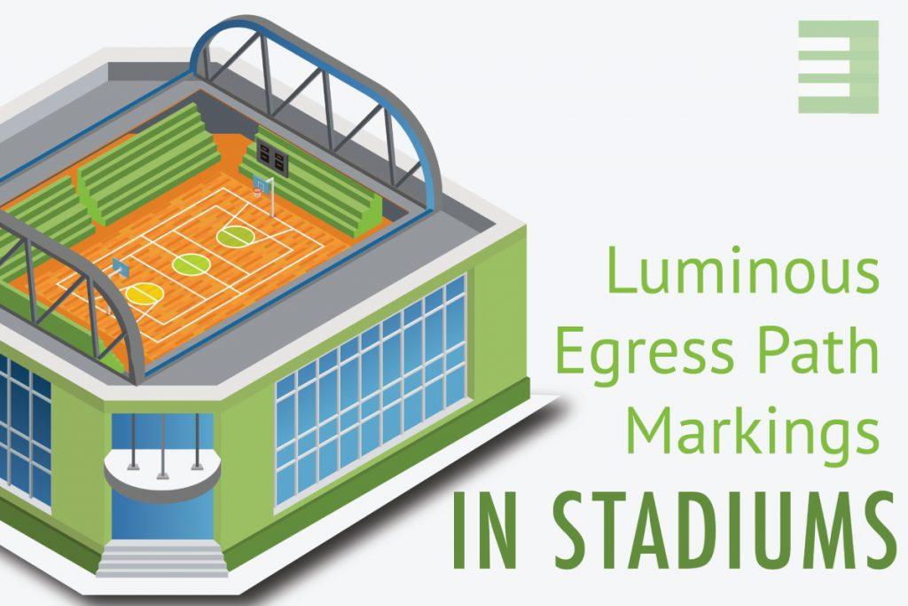Ecoglo luminous egress path markings in stadiums blog