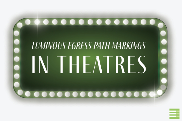 Luminous egress Path Markings In Theatres Blog