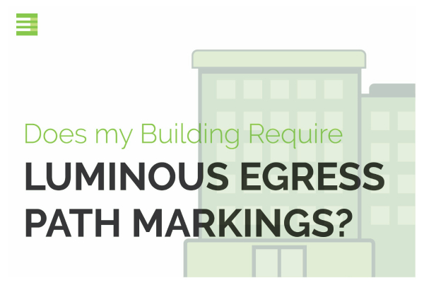 Luminous Egress Solutions Installation Requirement