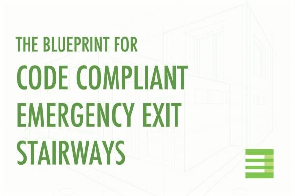 Emergency Exit Stairways Code Compliant Blueprint