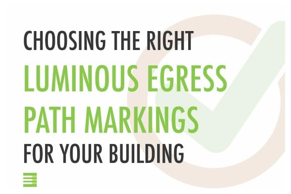 Blog Post: Choose the right luminous egress path markings