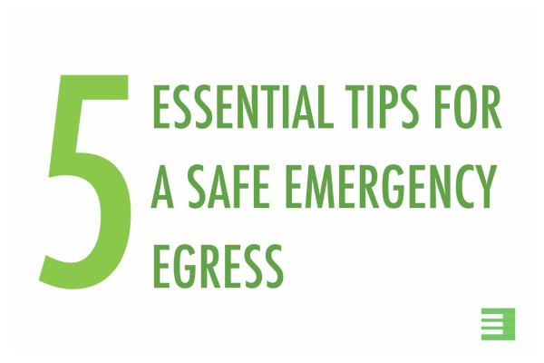 Blog Post: Essential tips for safe emergency egress