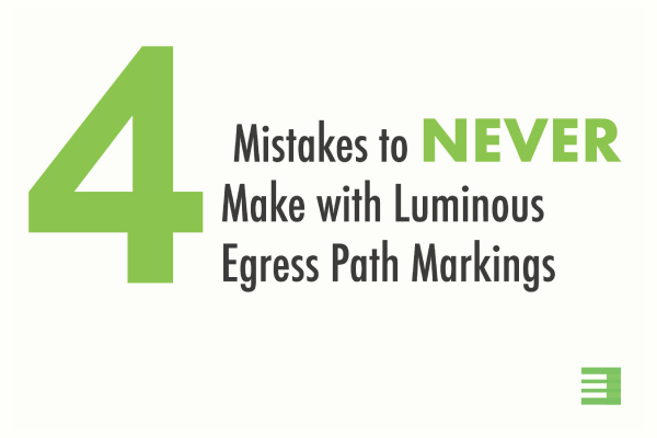 Blog Post: Mistakes to avoid with luminous egress path markings